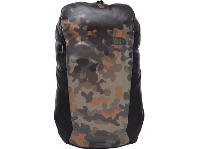The North Face Ka-Ban Backpack 26L, new taupe green macrofleck print/tnf black